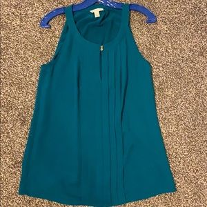 Teal BR high neck blouse